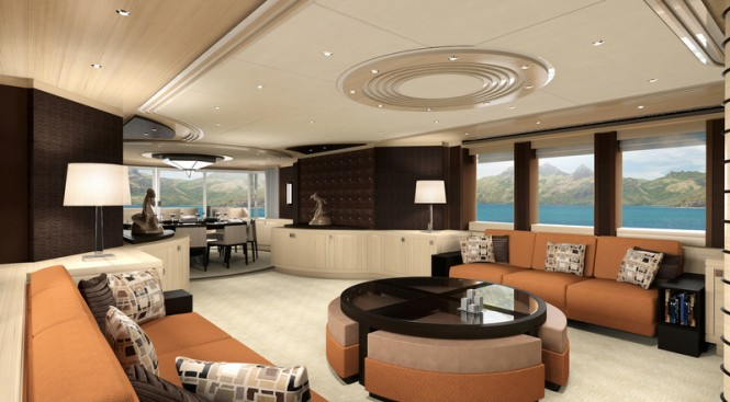 Luxury yacht Project Galatea - Saloon
