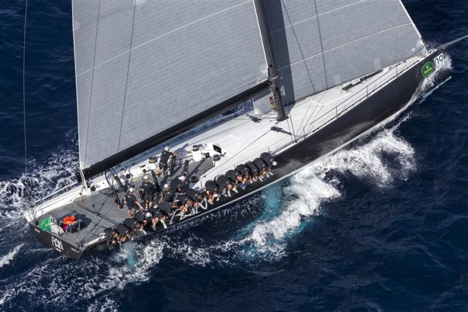 Luxury yacht Ran 2 racing in the good conditions of Day 3