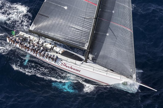 Luxury yacht Shockwave leading the Mini Maxi Rolex World Championship after Day 3