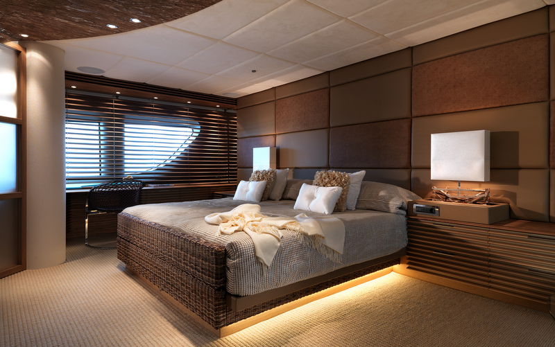 Art Line Yacht Interior Design : Luxury yacht sofia cabin photo by dick holthuis