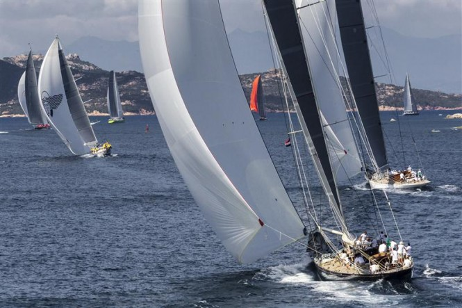 Maxi Yacht Rolex Cup fleet during the fourth day of racing