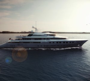 Newly delivered 73m mega yacht RED SQUARE by Dunya Yachts to be displayed at MYS 2013