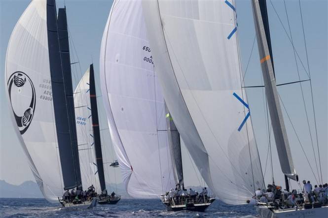 Mini Maxi Fleet racing downwind - Photo by Rolex Carlo Borlenghi