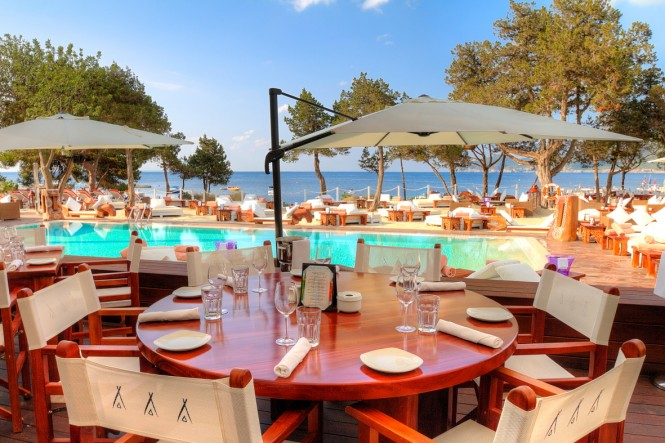 Nikki Beach in the popular Spanish yacht charter destination - Ibiza