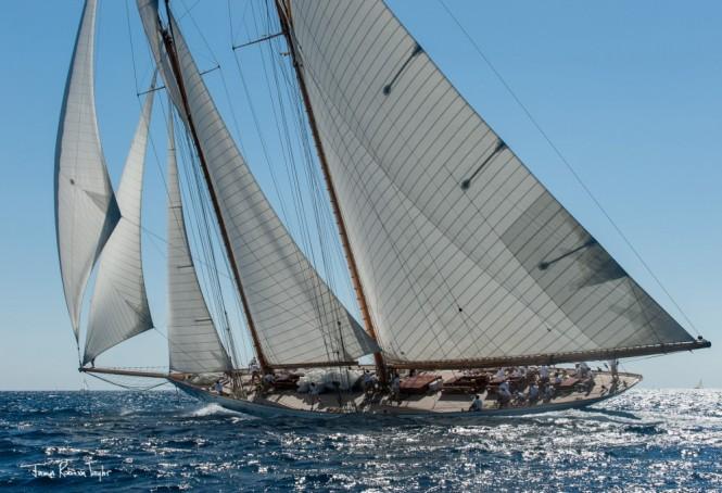 Photo by James Robinson Taylor - Elena under full sails