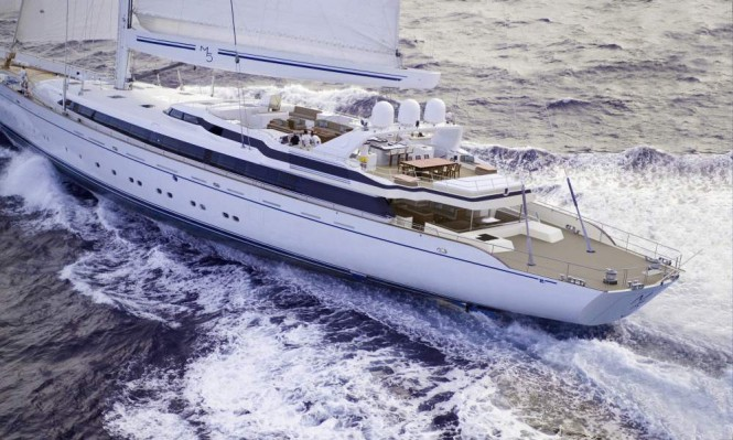 Post-refit rendering of luxury sailing yacht M5 (ex Mirabella V)