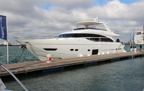Princess 88 Yacht On Display At The 2013 PSP Southampton Boat Show