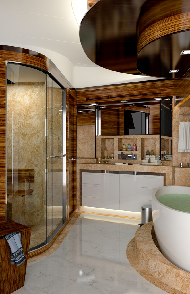 Andrea VI Bathroom Luxury Yacht Charter Superyacht News