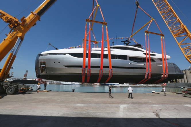 Sergio Cutolo-designed Columbus Sport Hybrid 40M Yacht at launch