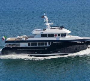 Debut for Sergio Cutolo-designed Darwin 96 Explorer yacht STELLA di MARE at Cannes Boat Show