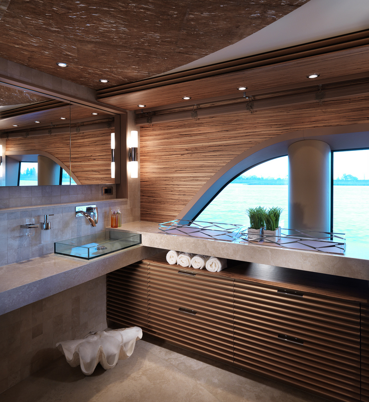Art Line Yacht Interior Design : Sofia yacht bathroom photo by dick holthuis —