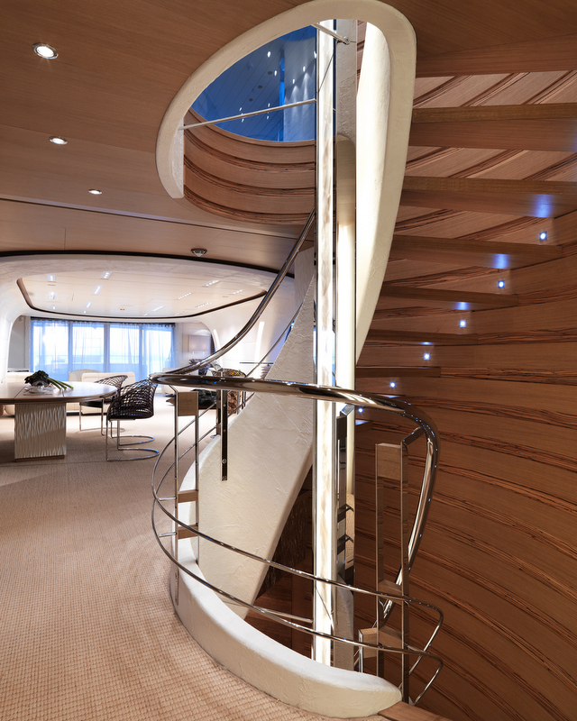 Art Line Yacht Interior Design : Sofia yacht staircase photo by dick holthuis —