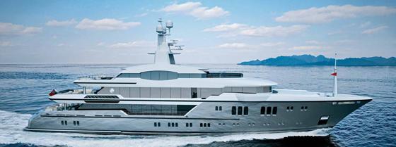 Sunrise 63m, 1,460 GRT, Design Espen Øino, Interior Design Focus Yacht Design