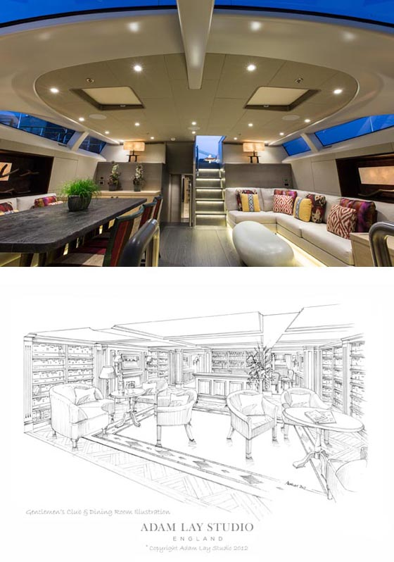 Superyacht Inukshuk - Interior