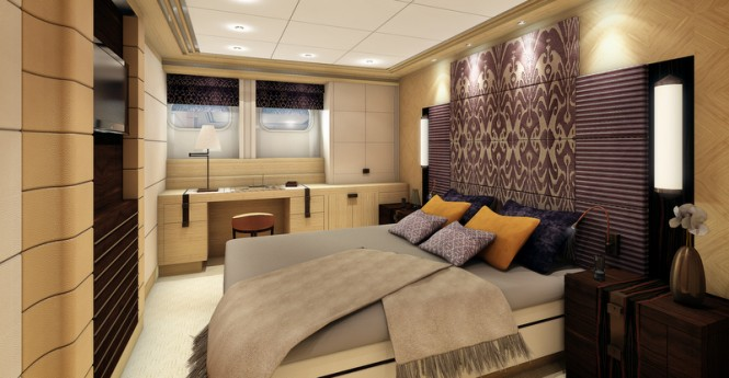 Superyacht Project Galatea - Guestroom