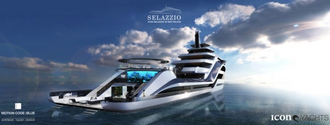 Superyacht SELAZZIO 95 SEA PALACE concept - aft view