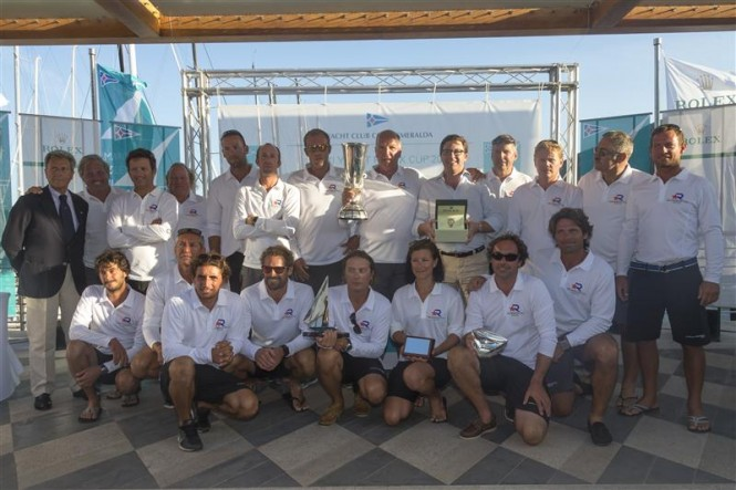 The crew of Altair Yacht - Winners of the Maxi Racing/Cruising Class