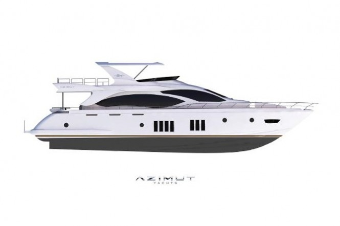 US version of Azimut 84 yacht developed by MarineMax and Azimut