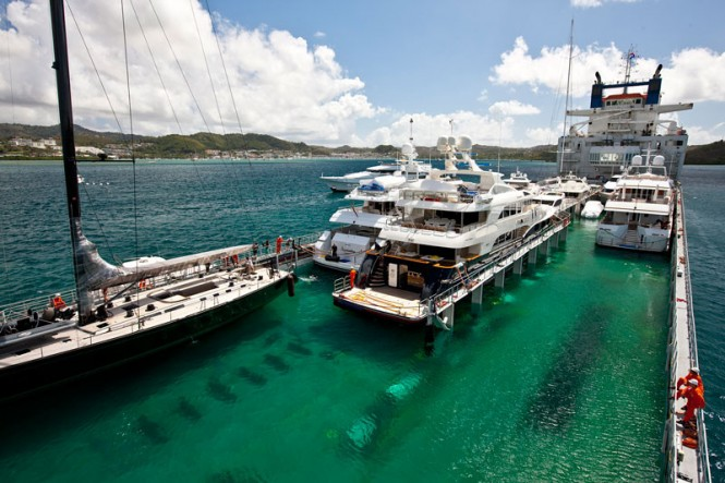 Yachts transported by Dockwise Yacht Transport