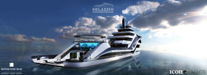 95m mega yacht SELAZZIO concept by ICON Yachts and Motion Code Blue