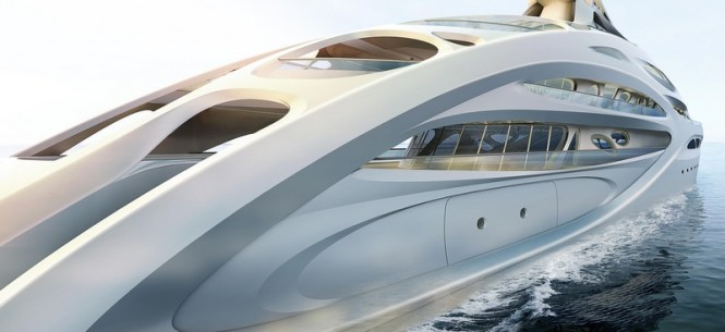 Project JAZZ Yacht - side view