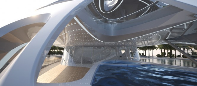 Project JAZZ superyacht - Close up pool