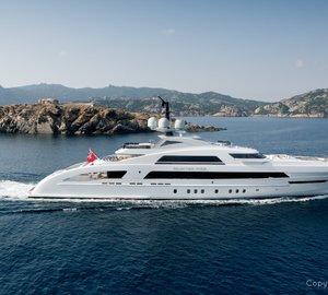 "Heesen Yacht GALACTICA STAR receives 2013 MYS/Baccarat ""Prix Du Design"""