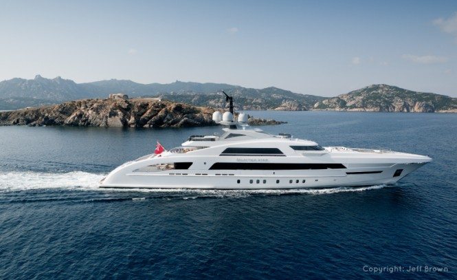 65m Heesen mega yacht Galactica Star - Photo credit to Jeff Brown