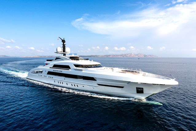 65m luxury motor yacht Galactica Star designed by Omega Architects