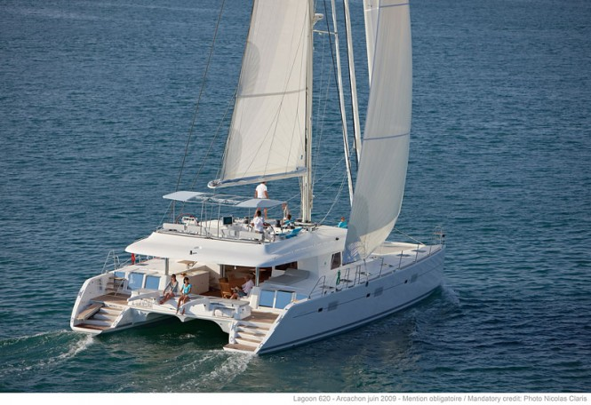 A Lagoon 620 yacht - sistership to Barbuda Belle catamaran