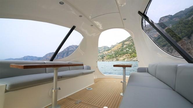 Aboard Jet Capsule yacht tender