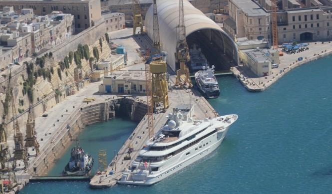 Aerial view of Palumbo Malta Superyachts Facilities