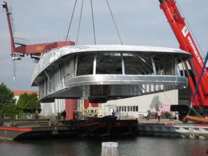 Aluminium superstructure for Feadship mega yacht Hull 686 completed by Bloemsma Aluminiumbouw