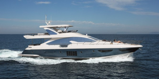 Azimut 80 Yacht by Azimut Yachts at full speed