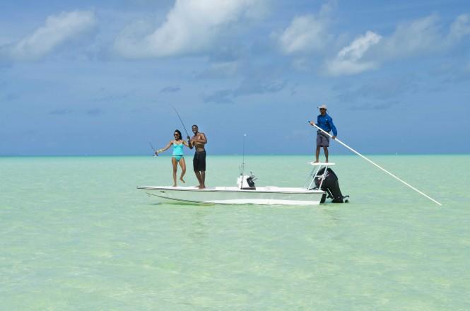 Bonefishing in Anegada British Virgin Islands - Photographs © BVI Tourist Board