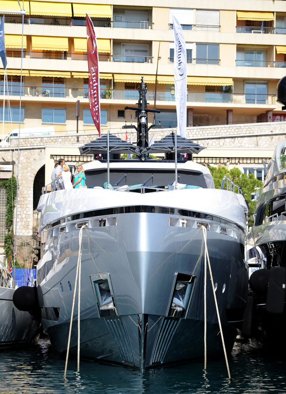 Columbus Sport Hybrid 40M Yacht at the 2013 Monaco Yacht Show