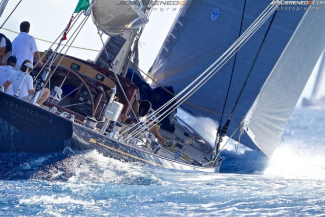 Dykstra-refitted superyacht Velsheda at the 2013 Maxi Yacht Rolex Cup - Photo by Jesus Renedo