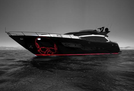 First Sunseeker 101 Sport Yacht in build with Sunseeker London