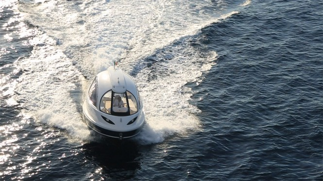 Jet Capsule yacht tender - front view