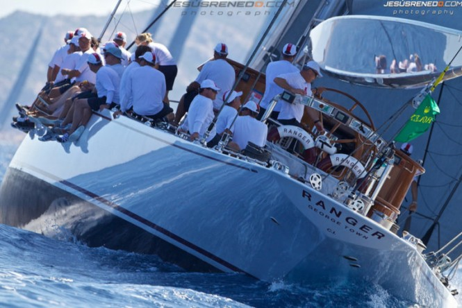 Luxury charter yacht Ranger at the 2013 Maxi Yacht Rolex Cup
