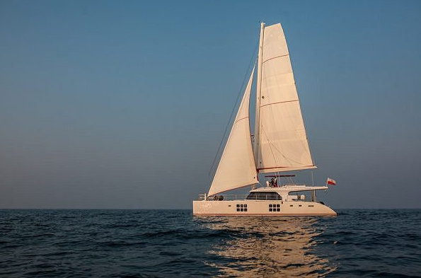 Luxury yacht GRACE under sail