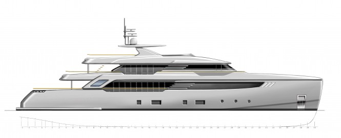 Luxury yacht SuperConero project - vertical bow