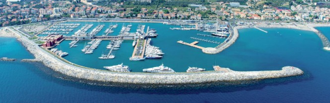 Marina di Loano positioned in the lovely summer yacht charter destination - Italy