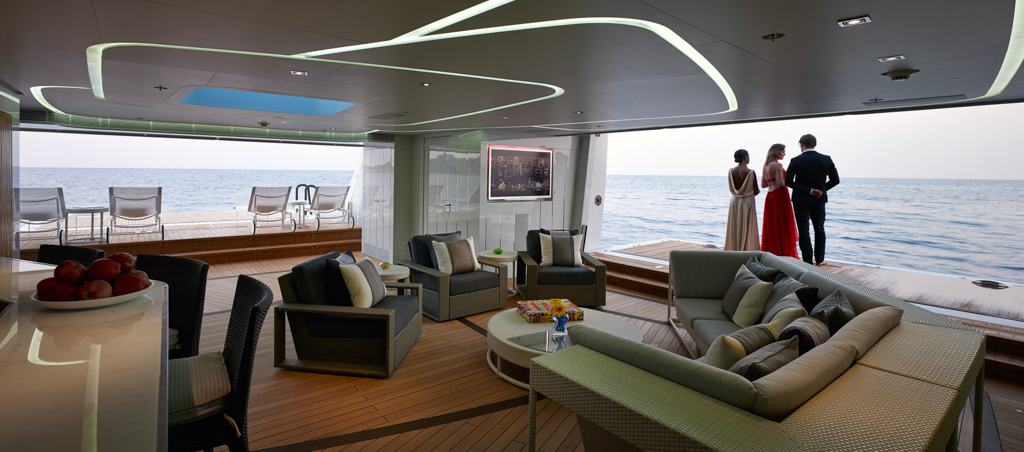 Luxury Mega Yacht Interior