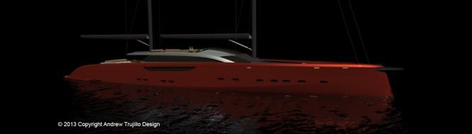 Mega yacht Serendipity concept