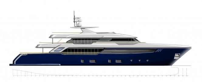 New 44m superyacht SuperConero project by CRN - classic bow