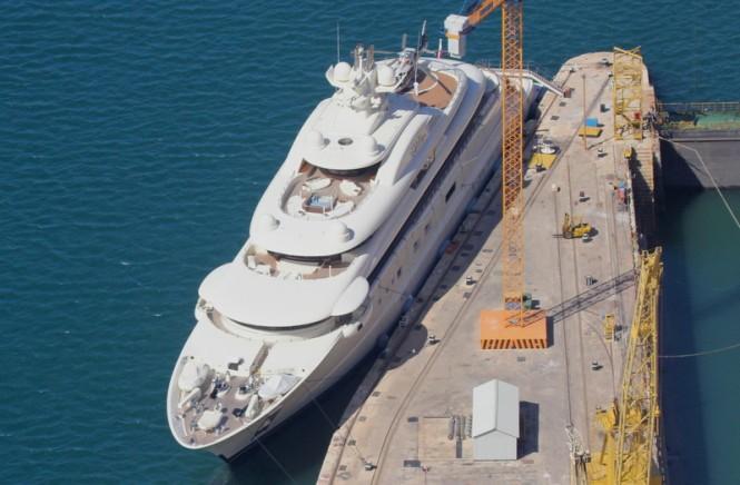 Palumbo Malta Superyachts working on a luxury Superyacht