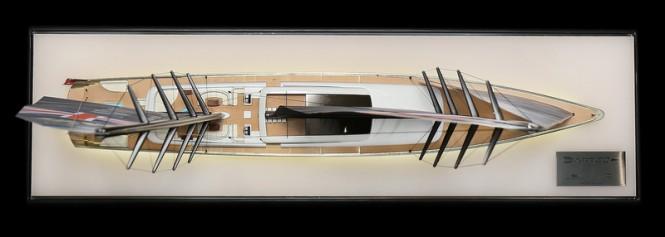 Sailing yacht DART80 concept - upview