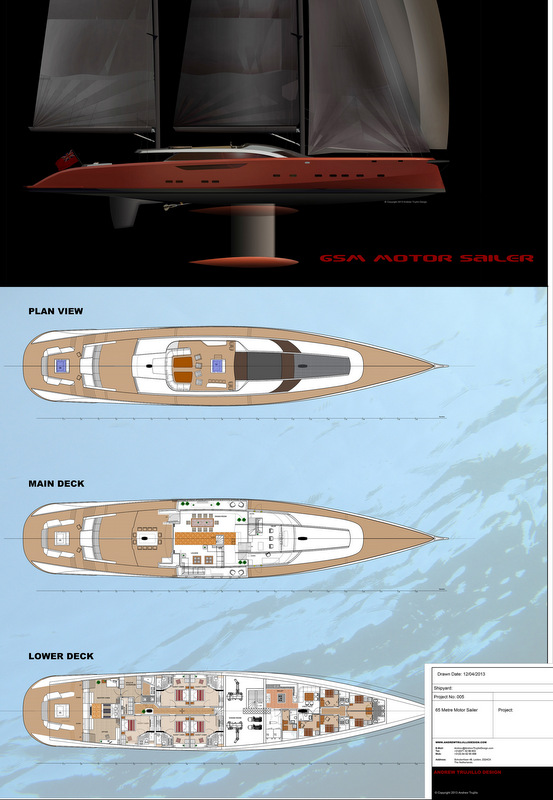 Serendipity Yacht Concept - Layout