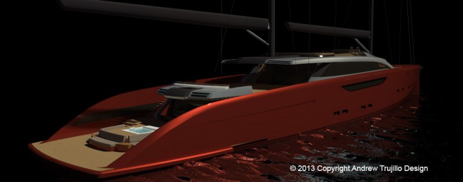 Serendipity Yacht Concept - aft view